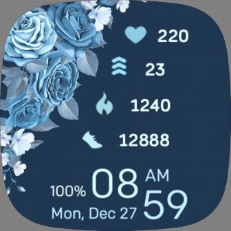 Blue Flowers X